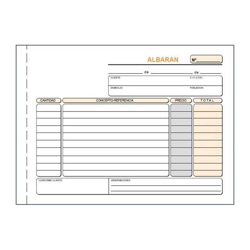 LOAN TALONARIO T119 -ALBARANES- CUARTO APDO DUP AUTO