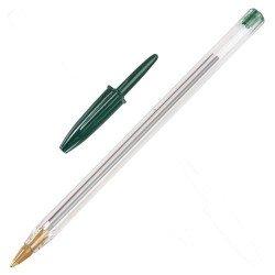 Boligrafo bic cristal verde