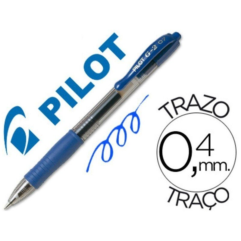 Pilot g-2 azul boligrafo tinta gel
