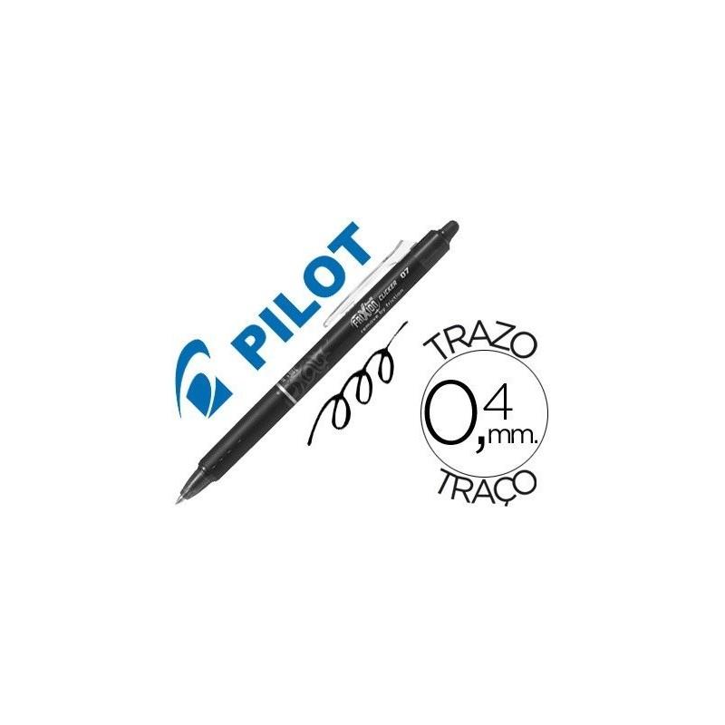 Pilot Frixion Clicker boligrafo borrable negro 0,7 BLRT-FR7B
