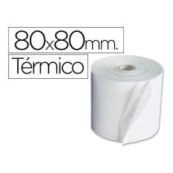 Rollo de papel termico 80x80 en pack de 8