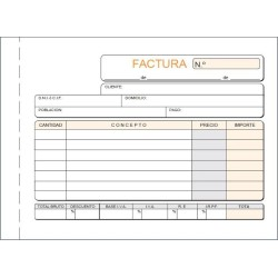 LOAN TALONARIO T67 -FACTURAS- OCTAVO APDO DUP AUTO